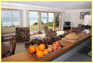 Spectacular 180 degree view from the kitchen and lounge area of East Beach